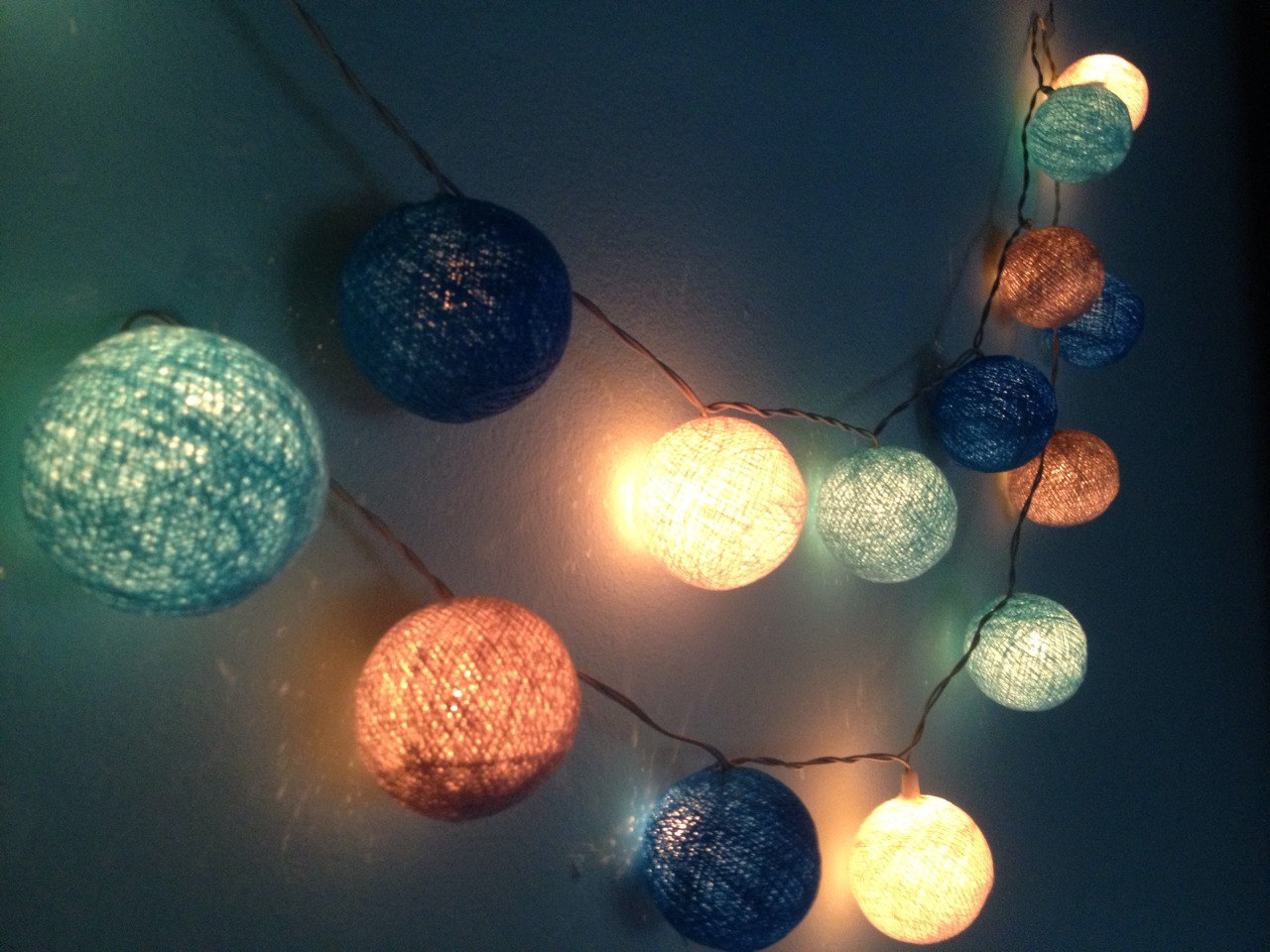 string light in the bedroom playing creativity with