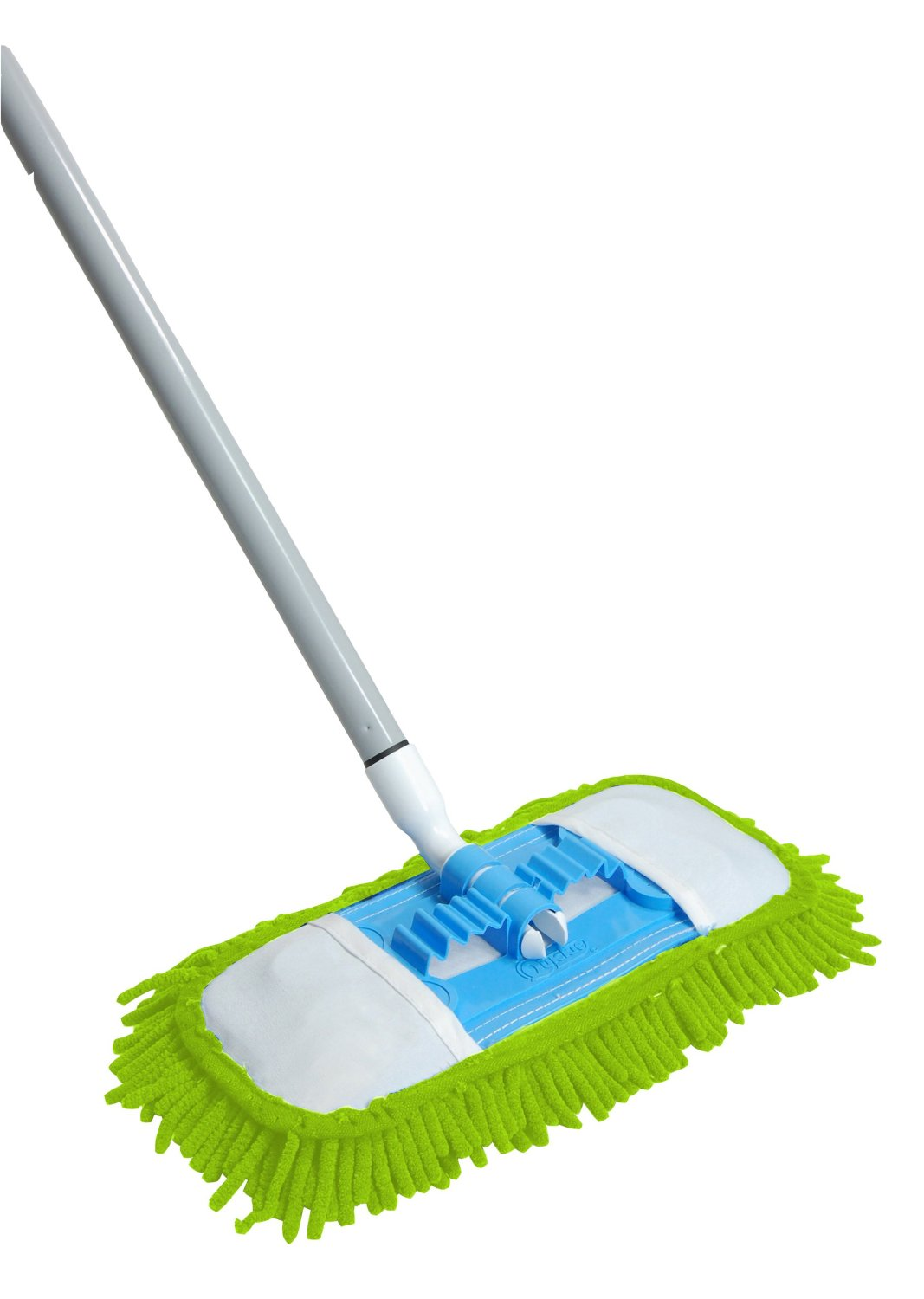 Dust mop for wood floors - Unique Modern Green Dust Mop For Wood Floor Design With Blue Accent And Bold Chrome Stick