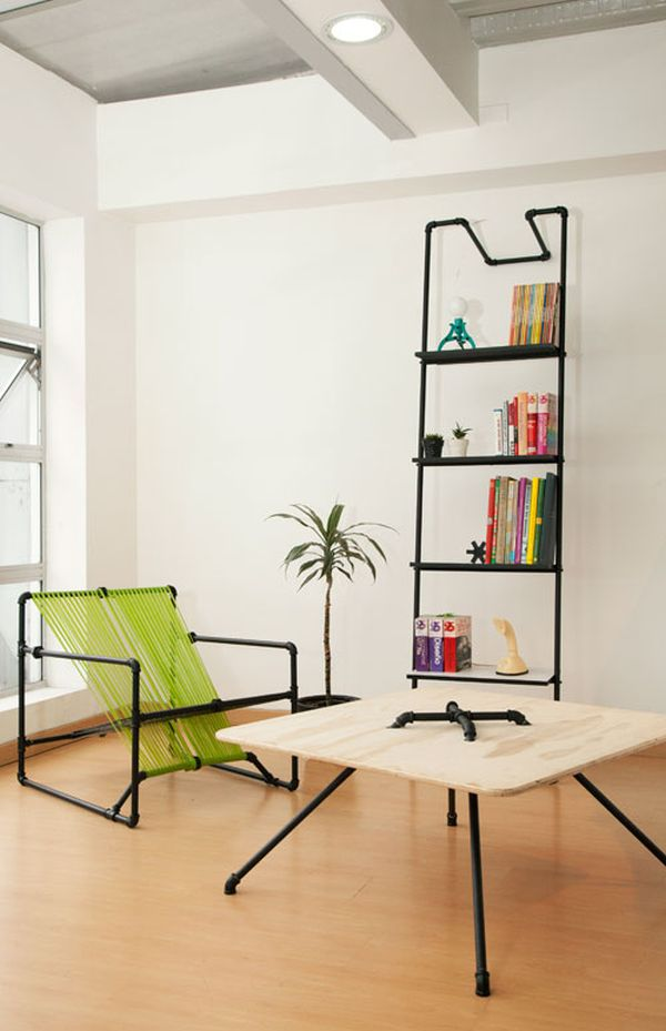 DIY Iron Pipe Furniture for Vintage Industrial Interior ...