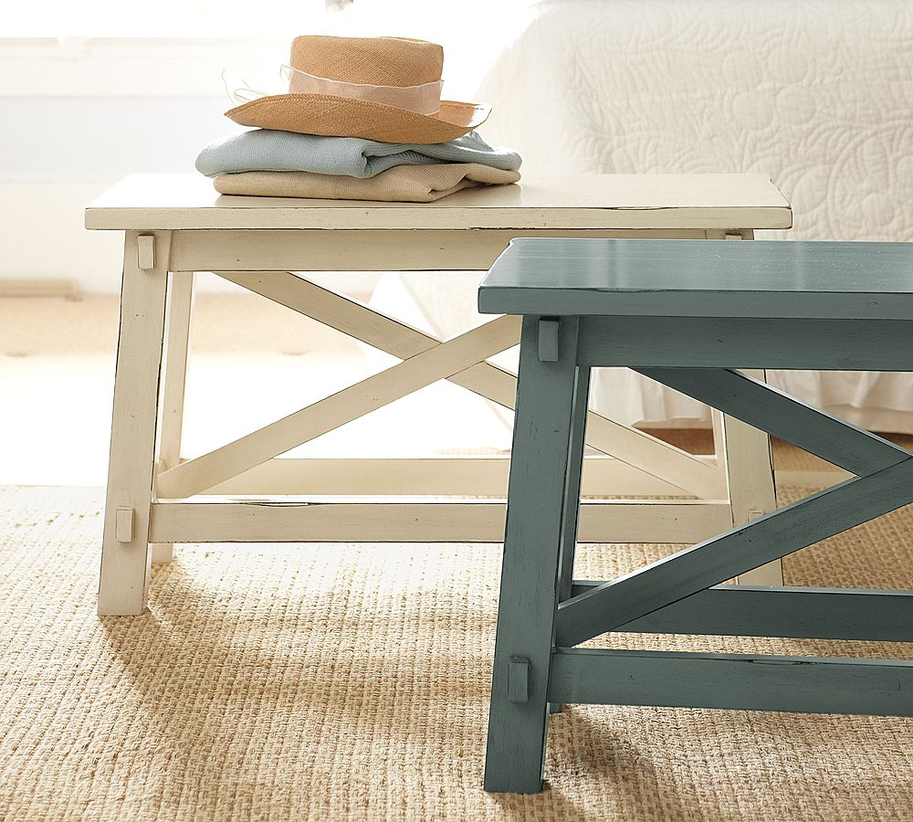 Unique Scandinavian Skinny Side Table Idea In Dull White And Navy Blue  Color With Throw On