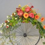 unique unusual flower arrangement with cartwheel accent