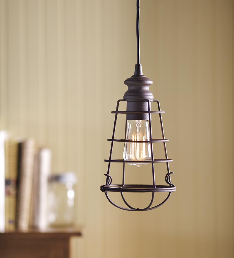 Cage Pendant Light Fixture Fixtures