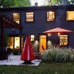 vinyl modern siding option modern black home beautiful green garden modern patio space