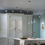 wall mounted track lighting for kitchen classic clean white kitchen white wooden kitchen furniture