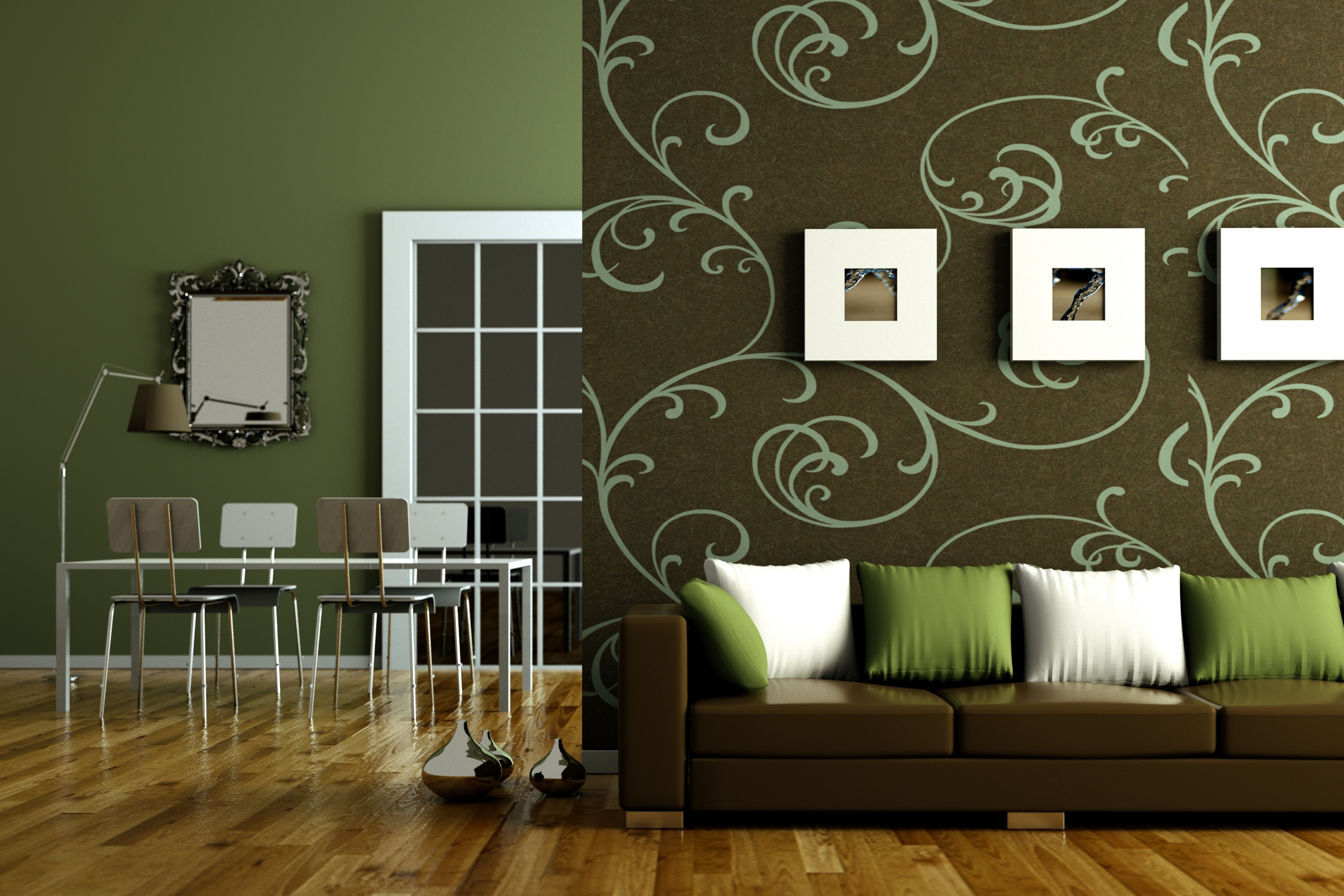 Wallpaper Sofa Pilloes Pics Table Chairs Lamp Decorating Your Living Room.  Surprising Wallpaper Design For