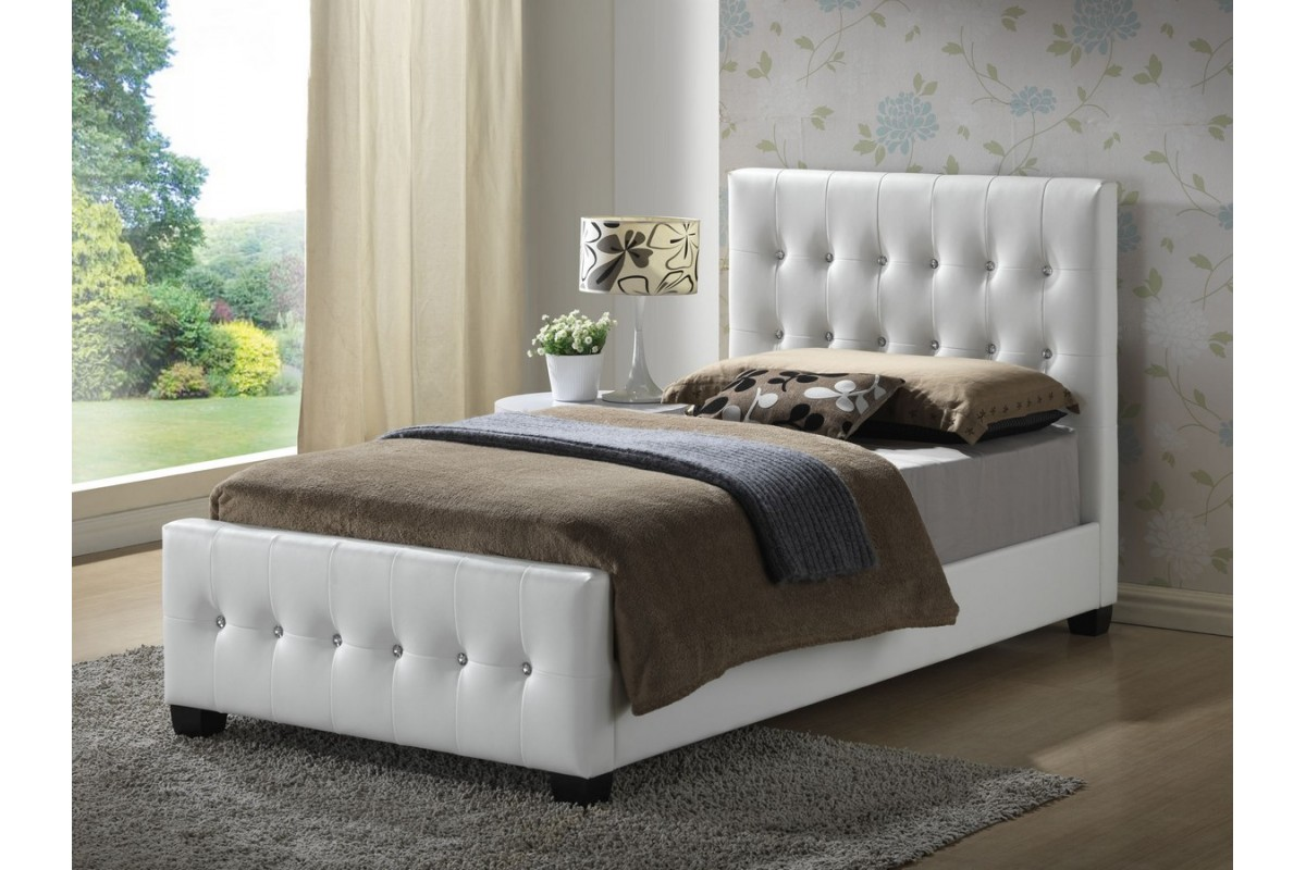 White Classic Twin Headboard For
