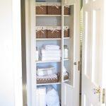 white closet organizer basket towel