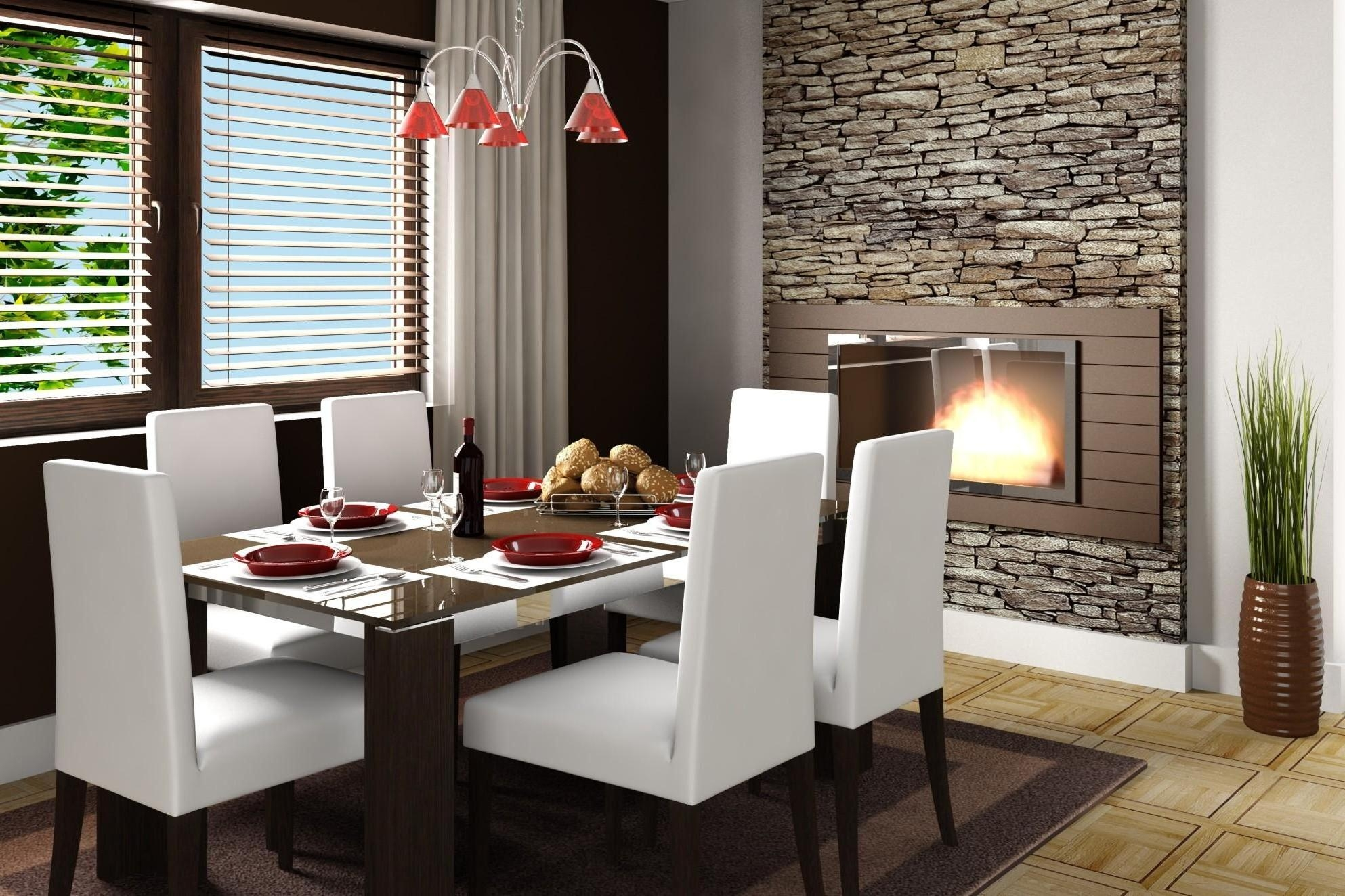 Comfortable Dining Room Sets Part - 40: Cleaning Leather Dining Room Chairs Modern Brown Glass Dining Room Table  Design With White Leather Glamorous