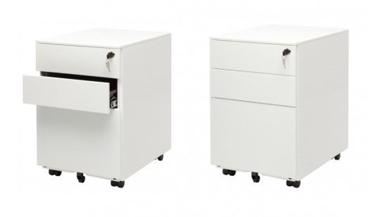White Stylish Filing Cabinets Beautiful White Modern Cabinets With Casters  By Blu Dot