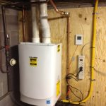 white tankless water heater wall installation tankless water heater installation