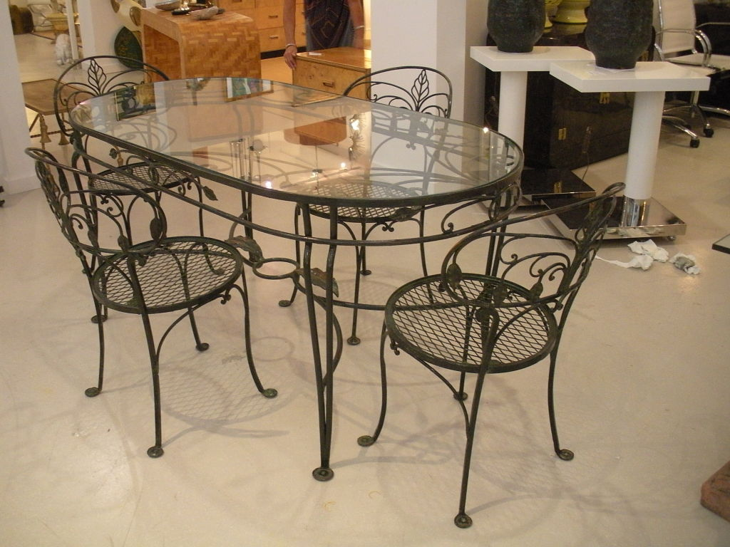 Wrought Iron Kitchen Tables Displaying Attractive Furniture Ideas ...