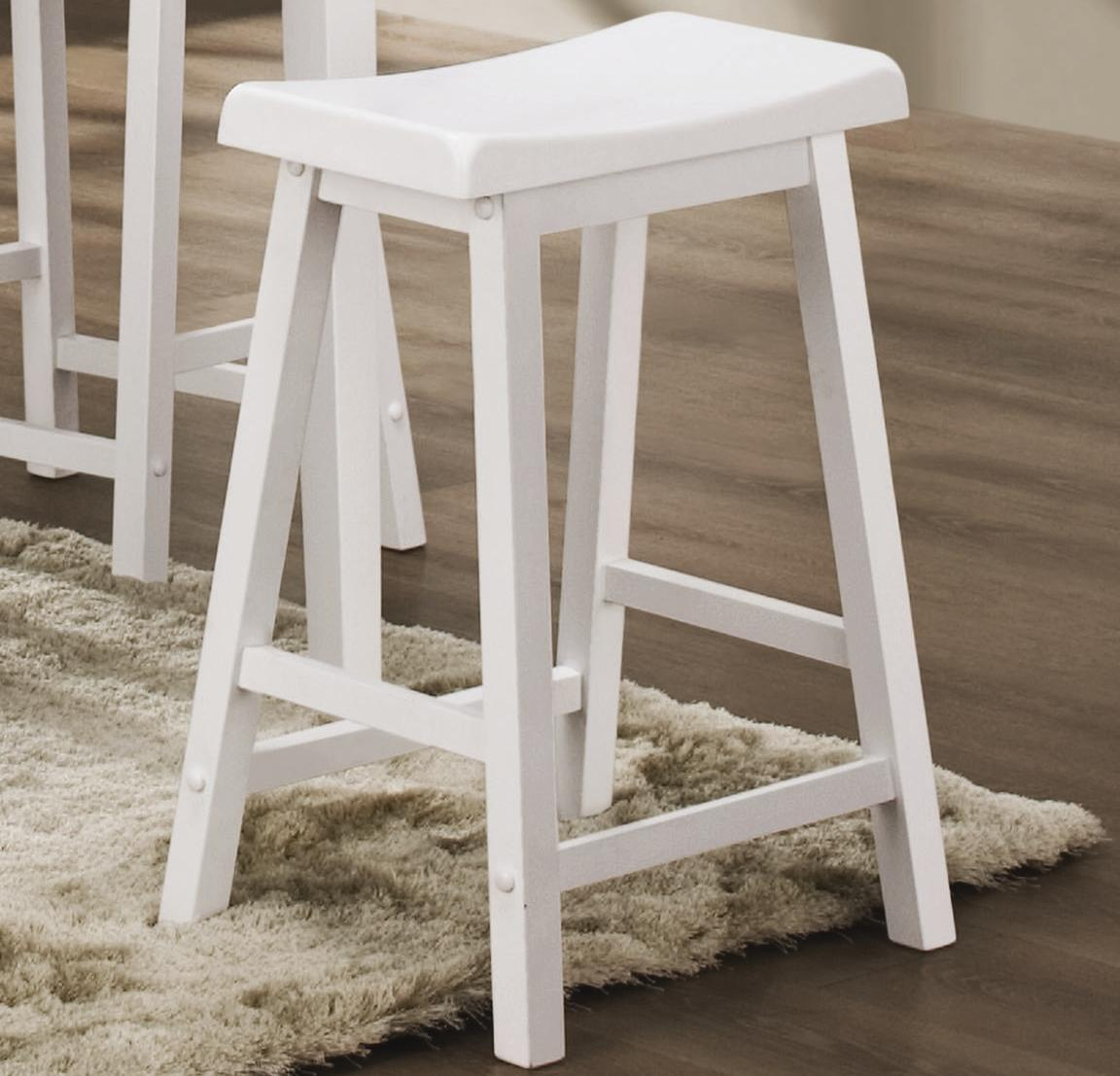 White Wood Bar Stools Providing Enjoyment In Your Kitchen Counter Space Homesfeed