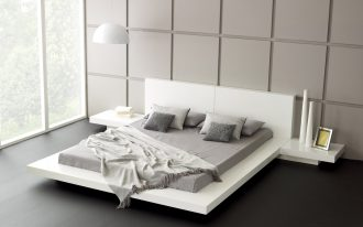 white wooden bed frames low profile queen bed square panel wall