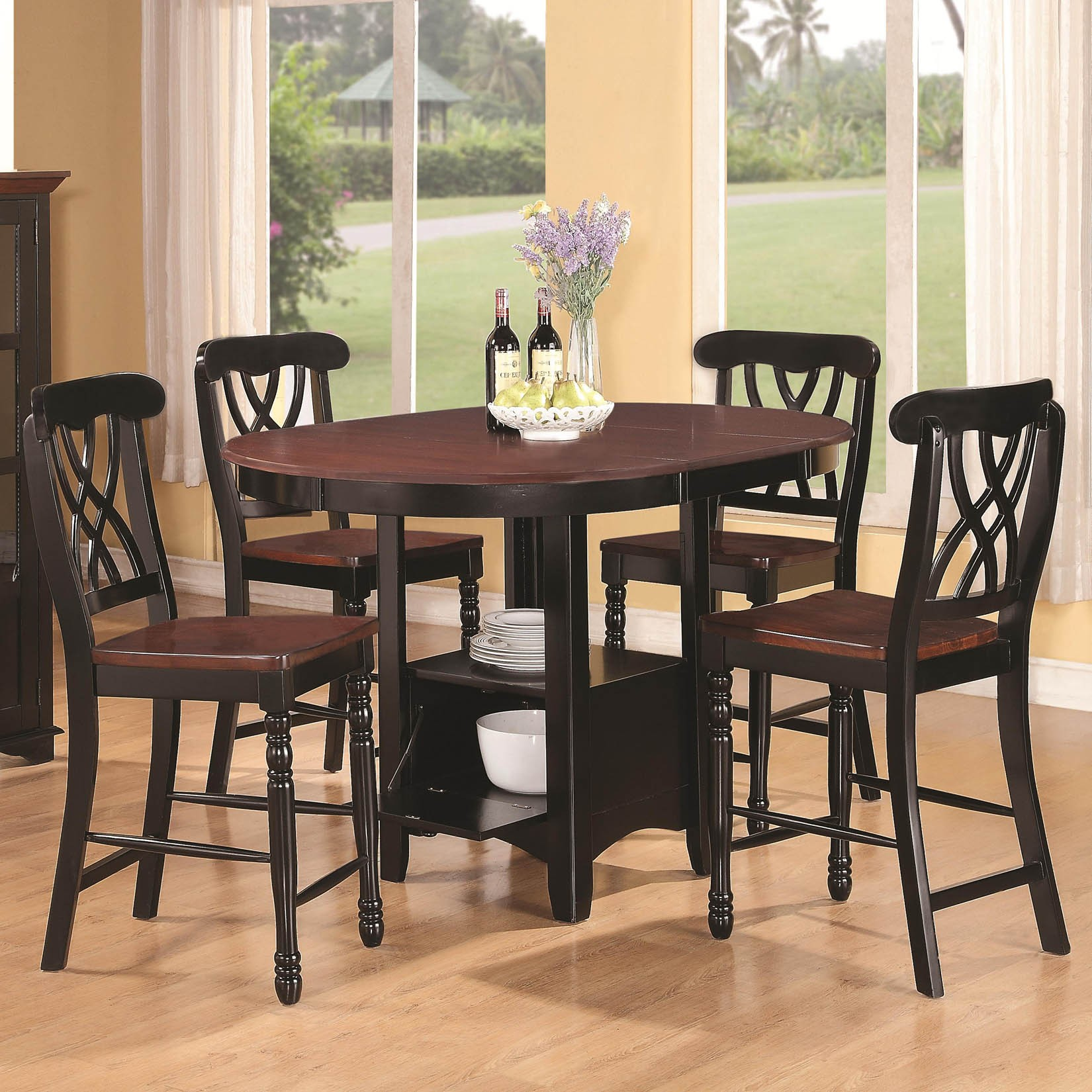 Adorable round dining room table sets for 4 homesfeed Round dining table set