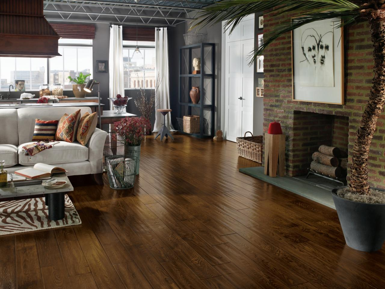 Wonderful Engineered Hardwood Flooring Pros And Cons For Home Interior With  Living Room Combined With Kitchen