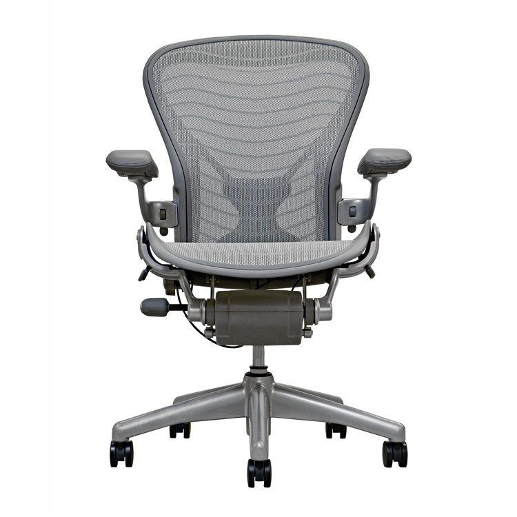 Wonderful Gray Modern Herman Miller Aeron Chair Parts Design With Black  Wheels And Tall Backrest And