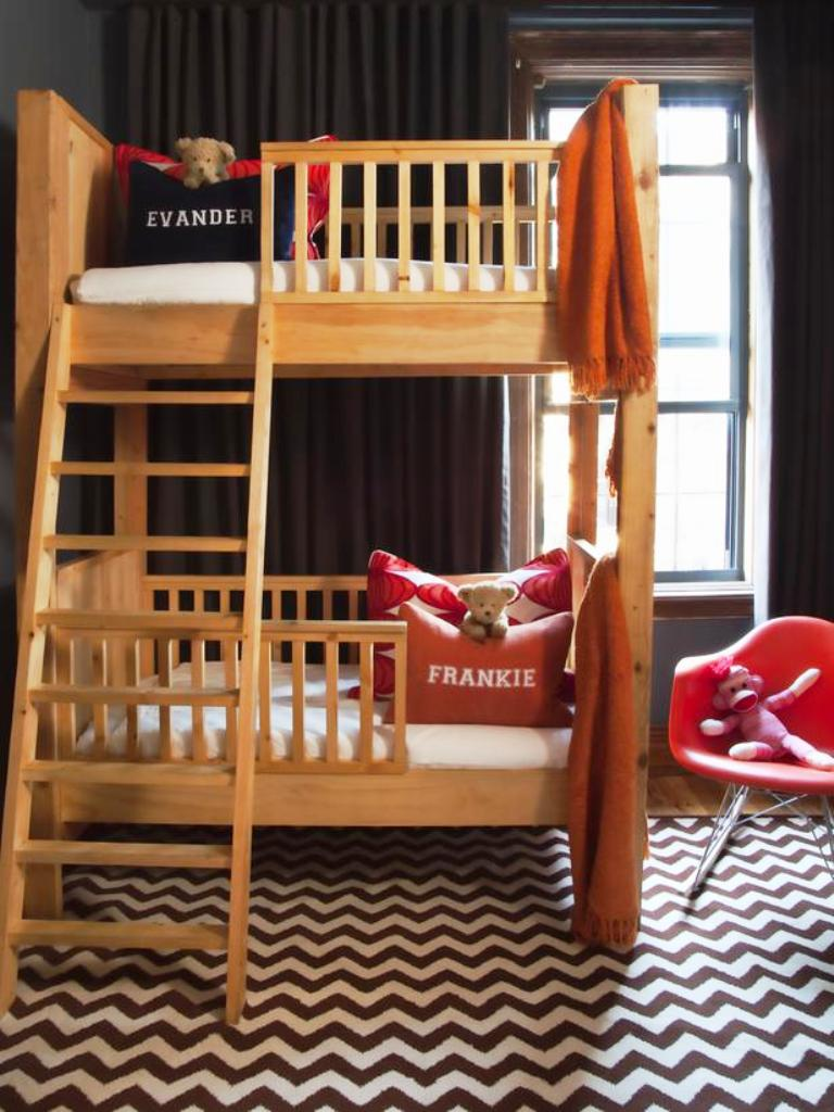 Bunk Bed Designs For Kids Room: Space Saver Crib Size Bunk Bed For Toddler: 2015 Trend