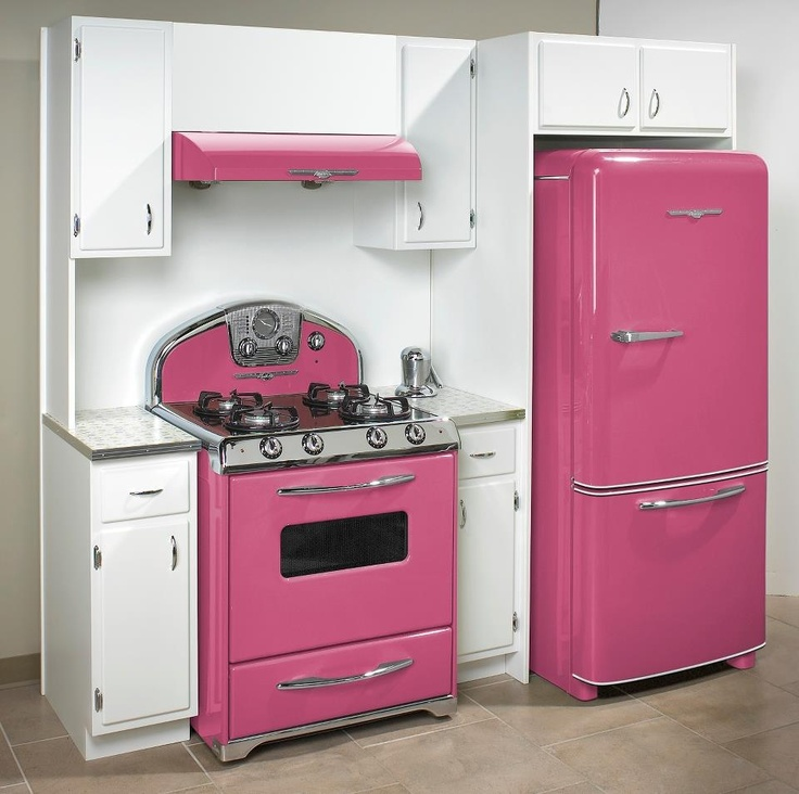 Pink Vintage Kitchen Appliances