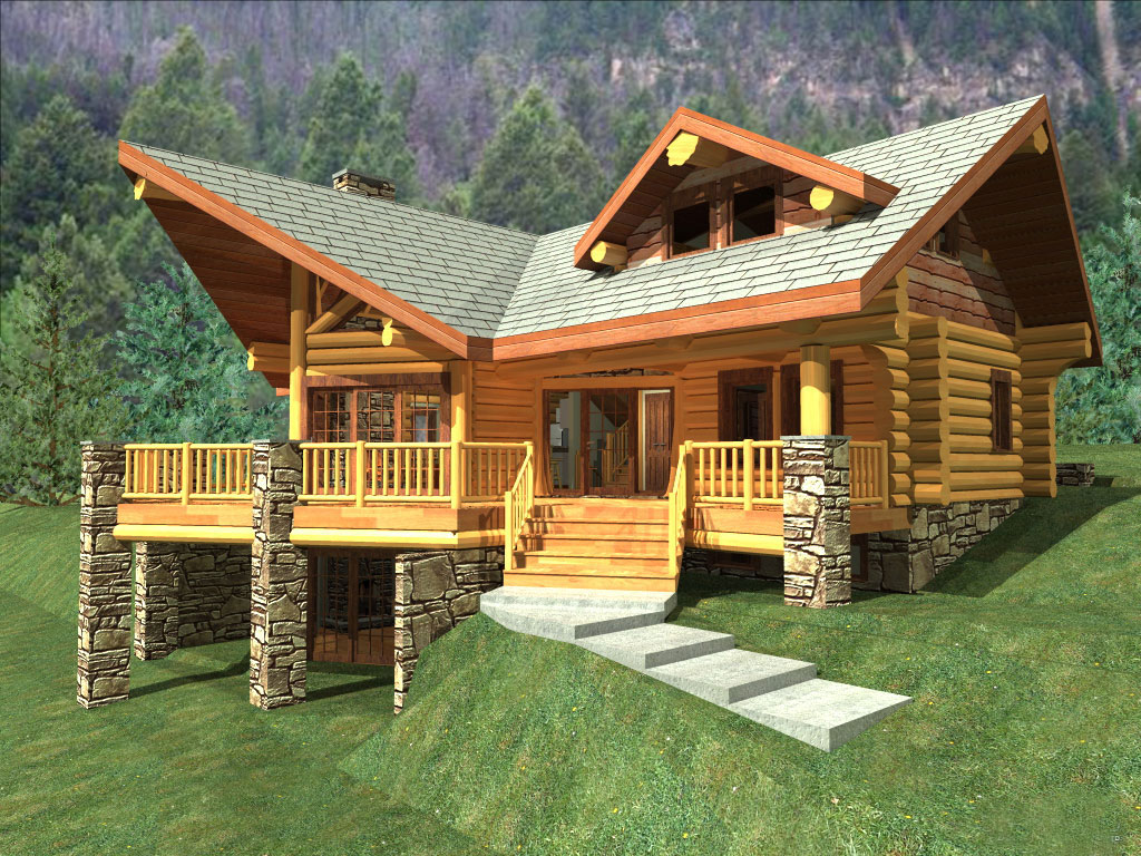 Best style log cabin style home for great escapism that for Lodge style home plans