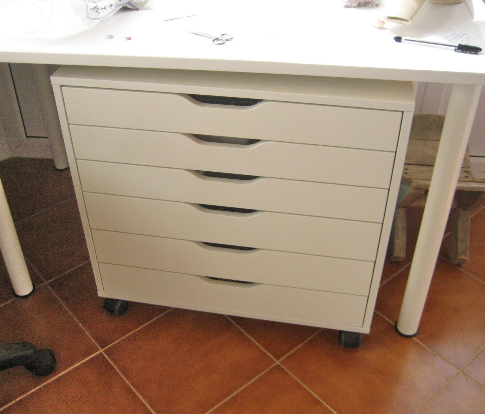 wood flat file cabinet table