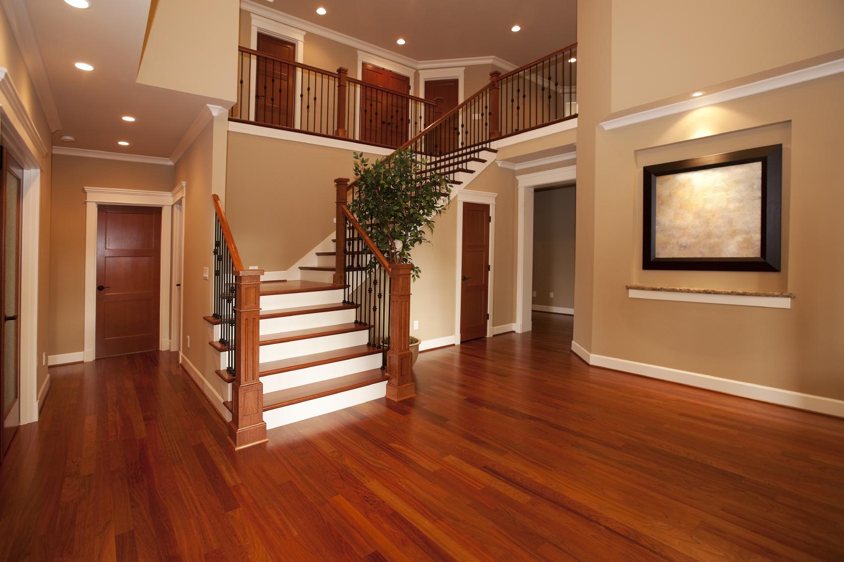 Wood Floor Stairs Pic Lamps Door