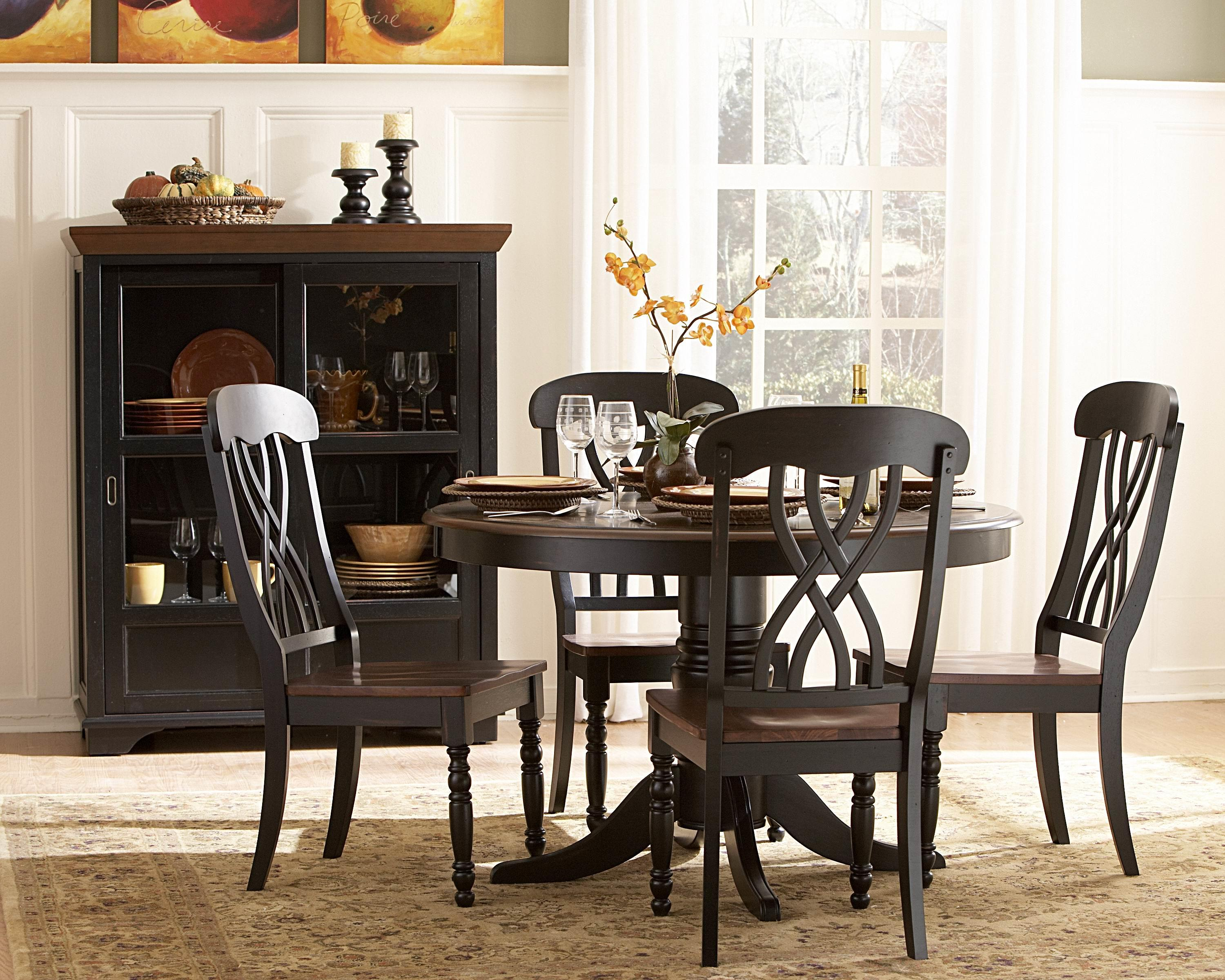 adorable round dining room table sets for 4 homesfeed. Black Bedroom Furniture Sets. Home Design Ideas