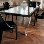 wood table base for glass top rectangular glass tableb black wooden chairs natural wooden floor