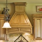 wood vent hood for modern and traditional kitchen ideas decorated between the wooden kitchen cabinet plus adorned with decorative element on wall
