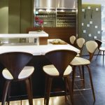 wooden cherner counter stools simple modern small bar white seat and back pads cherner counter stools wooden furniture