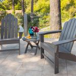 wooden target patio chairs with beautiful shape and also wooden coffee table with tile flooring