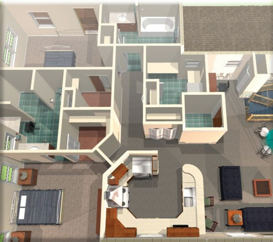 Attractive 3D Home Design Which Is Drafted By Using Home Designing Software Amazing Pictures