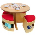 A+-Child-Supply-5-Piece-Table-and-Stools-Set-with-a-circular-table-and-four-stools-and-a-space-saving-set-with-non-toxic-and-a-polyester-blend-material