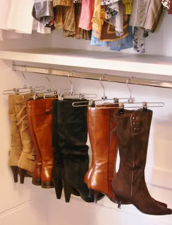 A Closet Storage With Bottom Space Special For Hanging Boots