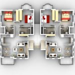 A home floor plan made by home designer software