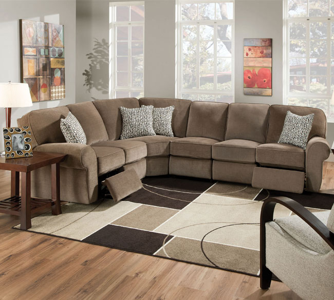 Microfiber Reclining Sectional Create So Much Coziness Homesfeed
