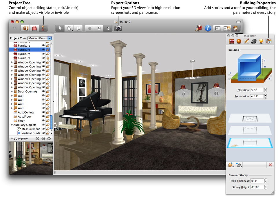 Design your own home using best house design software for Interior design layout tool