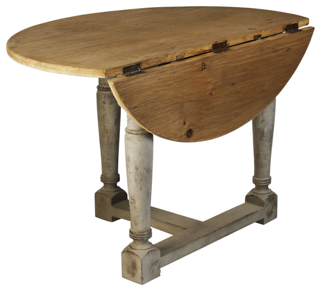 A Wooden Drop Leaf Table With Single Leaf
