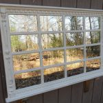 Artistic Window Pane Mirror