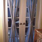 Attractive Blue Curtain For Door