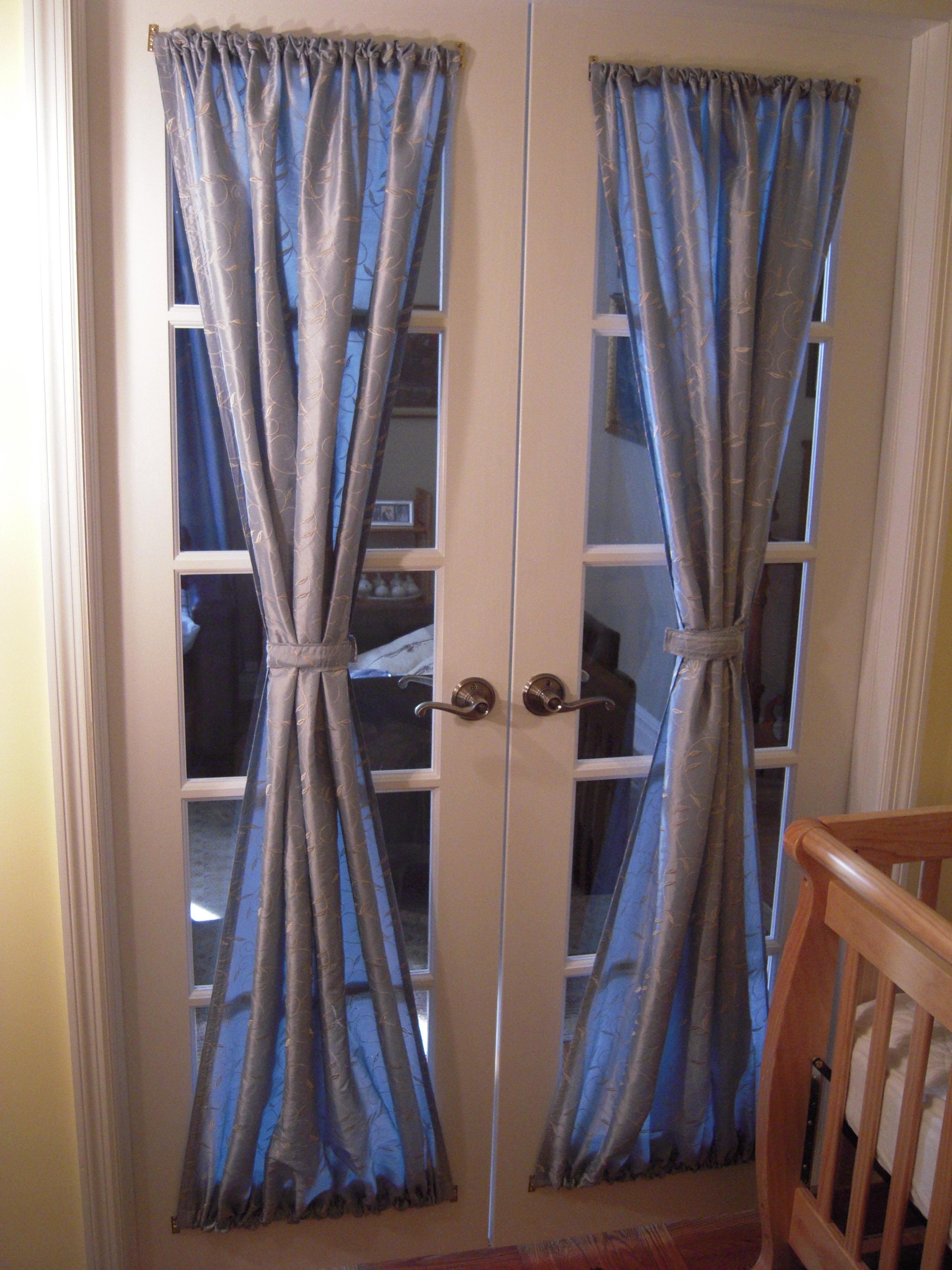Attractive Blue Curtain For Door