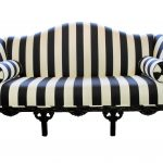 Awesome Striped Black And White Couch