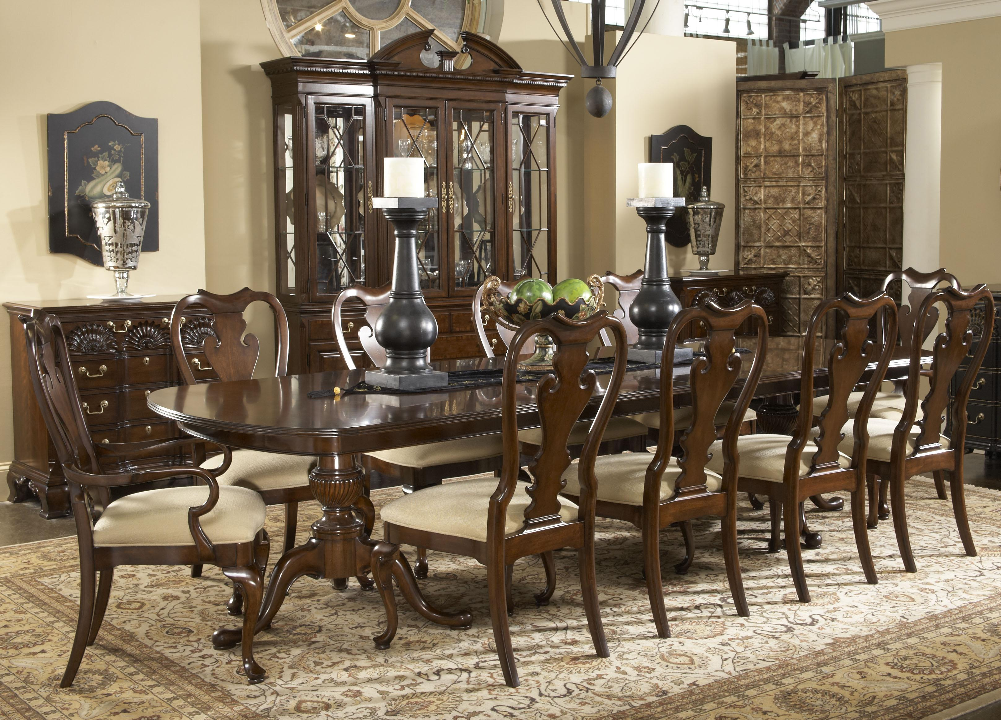dining room sets table and chairs with cool carpet and big hutch