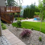 Backyard Landscape Design WIth Nive Cabana Stone And Grass Style