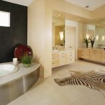 Bathroom rug looks like animal skin built in tub floating bathroom vanity large frameless vanity mirrors