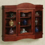 Beautiful Wooden And Glass Mounted Cabinet
