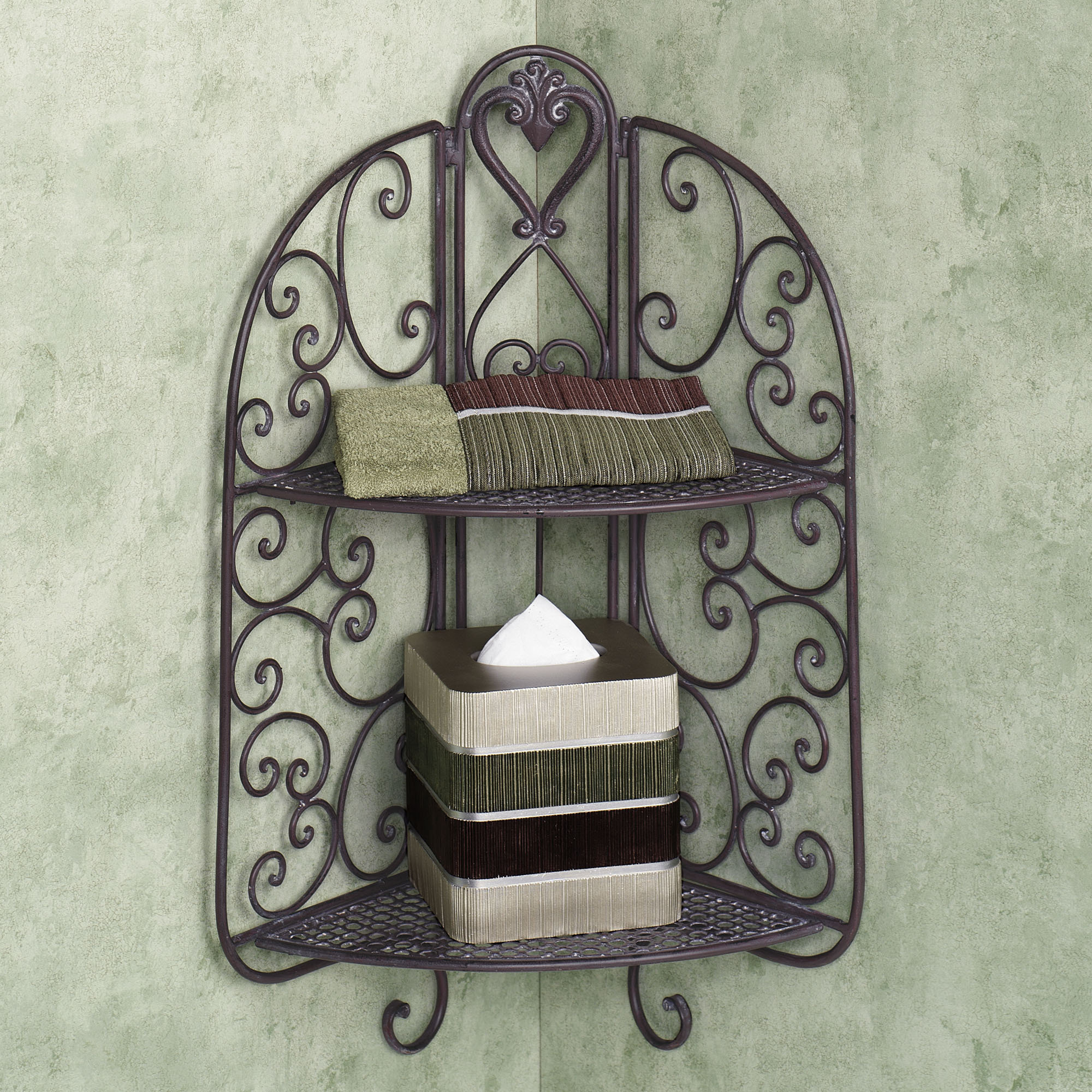 wrought iron corner shelf ideas homesfeed. Black Bedroom Furniture Sets. Home Design Ideas