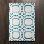 Beautiful global view rug with modern pattern in blue