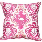 Beautiful white pillowcase with pink classic pattern as the decoration