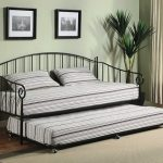 Bed Metal Twin With Stylish Bed Cover And Pillows Bed Frame Design By Ikea