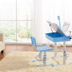 Best Desk Kids Height Adjustable Chair In Living Room Near Sofa Doll And Fur Rug With White Curtains